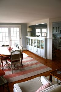 Stonington house rental - dining for up to twelve and doors to the deck