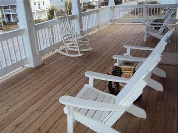 Kure Beach house rental - Front Deck - just across the street from the ocean