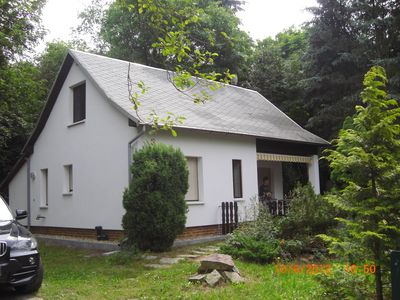 80 meters to the lake, cottage with fireplace and bar, 2 terraces, car parking space