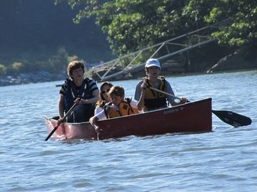 Canoeing on Presumpscot River