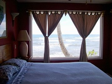 Sweeping ocean views from master bed.