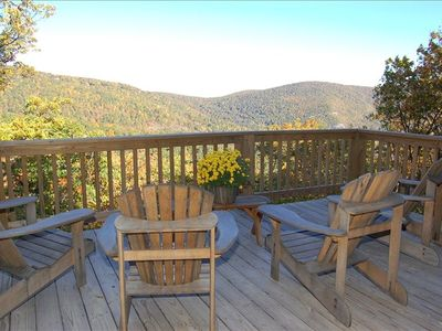 Exceptional Year Round Mountain Views from Deck and all Rooms