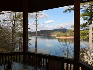 Lake Burton cabin photo - view from outdoor dining area