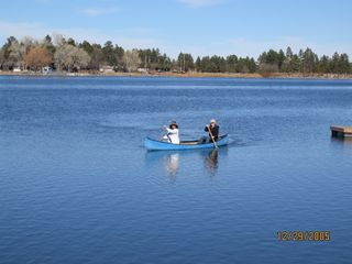 Pinetop house photo - Canoeing on Rainbow Lake