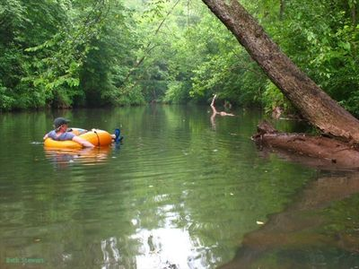 Go tubing in your front yard on Talladega Creek! Carpe Diem...seize the day!