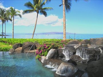 Wailea villa rental - Adult Pool with Spectacular Views of the Pacific Ocean and Wailea Beach