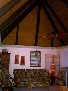 Living Room with Polynesian Bungalow feel!  Relax to Hawaiian music & un-wind...