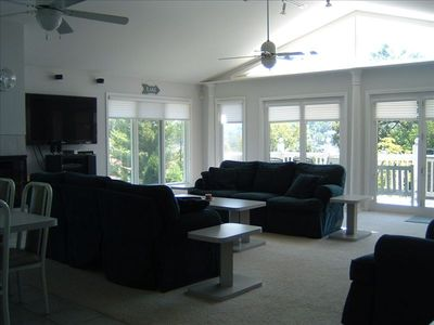 Large Living Area with Walk Out Deck on Each of Three Levels