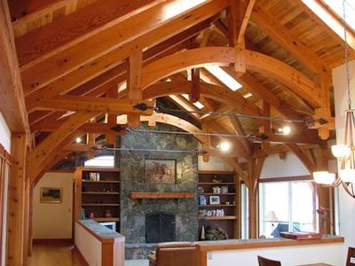 True timberframe construction.
