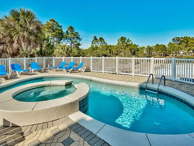 Heated Private Pool. 1 min walk to beach. Sleeps 20 and remodeled in 2017!