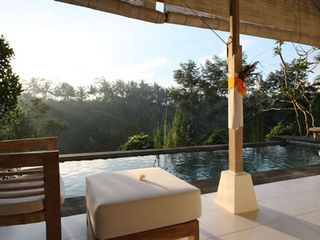 180 degree panorama viewing tropical jungle valley - Ubud villa vacation rental photo