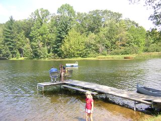 Saugatuck / Douglas house photo - Another view of the backyard and dock