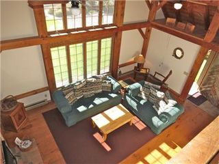 Orleans house photo - Roomy LR has vaulted cieling, post and beam design