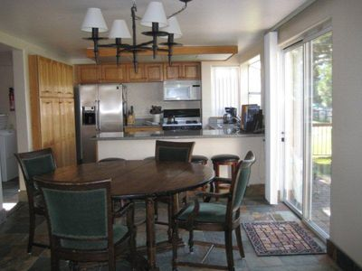 Tahoe Keys house rental - Kitchen With breakfast nook and table for 8