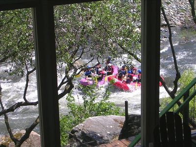 View of Whitewater Rafters from lower river room