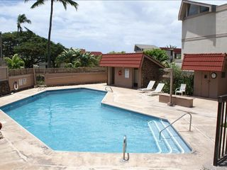 Makaha condo photo - Adult Pool, Mountain Views behind.