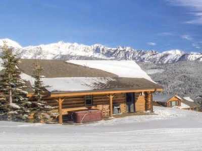 2nd highest cabin on the hill and only cabin with long private slope side porch.