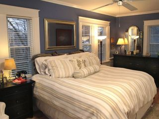 Milford house photo - Master bedroom with king bed, large dresser and two closets