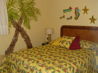 Tastefully decorated, very comfortable queen bed with TV
