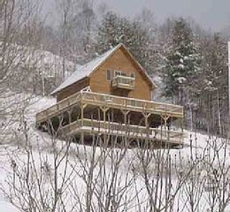 Watauga Lake cabin photo - Front view of Hidden Cove Winter 2010