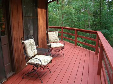 Rocky Retreat's back deck.