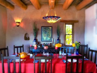 Santa Fe house photo - Dining room seats 10-12 people - table 8' long!