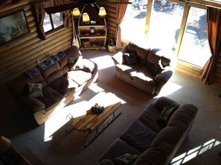 Duck Creek Village cabin photo - Living Room from Loft