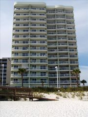 Orange Beach condo photo - View of Tradewinds from the Beach