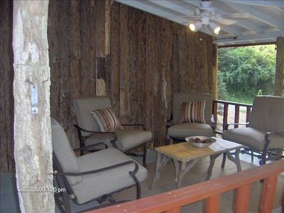 Covered Porch - Perfect for Sipping Wine & Sharing Time with the One's You Love.