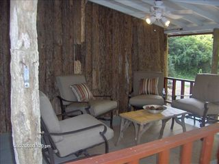 Highlands cabin photo - Covered Porch - Perfect for Sipping Wine & Sharing Time with the One's You Love.