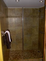 Aruba condo photo - Large walk in glassed in shower area/ with hot water
