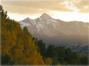 14,017 ft. Wilson Peak from See Forever Cottage in Fall