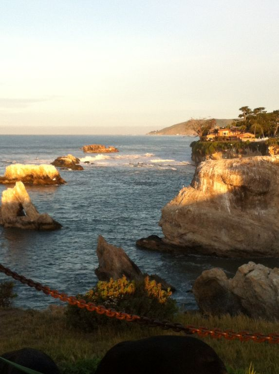 Nearby view of spectacular coast in Shell Beach-sea otters & dolphins cruise by.