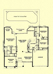 Floor Plan - you are all on one level so no stairs to climb