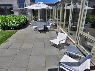 Katama house photo - Large Bluestone Patio Offers Additional Outdoor Entertaining & Dining Areas