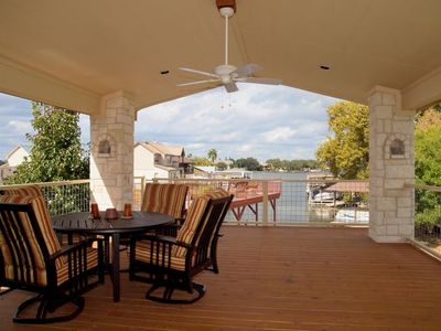 Horseshoe Bay house rental - Upper Outdoor Dining Porch