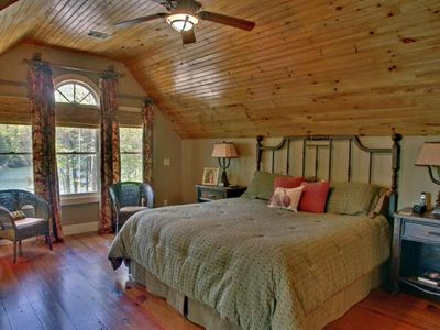 Master Bedroom with King and big lake view.