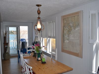 Dining Area Overlooking Harbor, Open to Living area