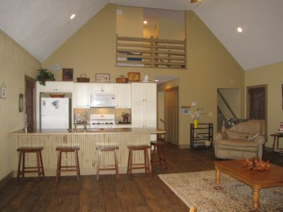 Geneva-on-the-Lake cottage rental - Kitchen and loft