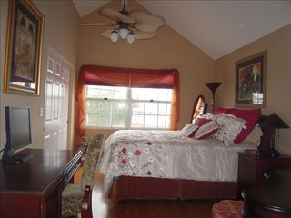 Coronado house photo - Upstairs Bedroom with Queen Sleep Number Bed, Desk and Vanity Set