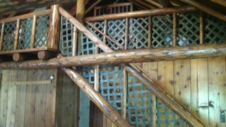 Atlanta lodge photo - Stairs to loft bunk beds and 2nd master bedroom