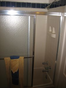 Small bathroom with detach shower head