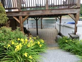 waterfront deck and patio - Alton Bay condo vacation rental photo