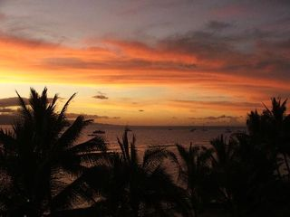 Lahaina condo photo - Sunset from one of the many restaurants on front street( 1.5 blocks away)