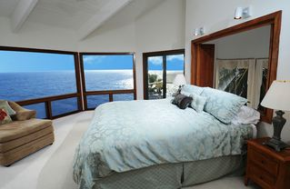 Honolulu house photo - The master bedroom has floor to ceiling windows & is located on the 3rd floor