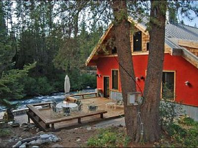 Alpine Meadows house rental - Back View of Home on River
