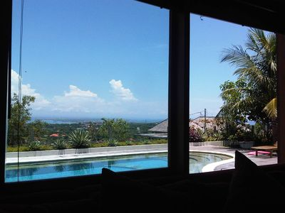 Nusa Dua house rental - From the living room the pool in plain sight