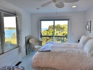 Bedroom #3 Has Queen Bed & Private Sliding Door to Deck With Views. First Floor
