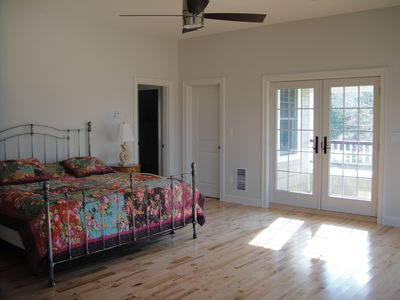 Jamestown (Conanicut Island) property rental - Master with King, french doors going out to private covered deck. (private bath)