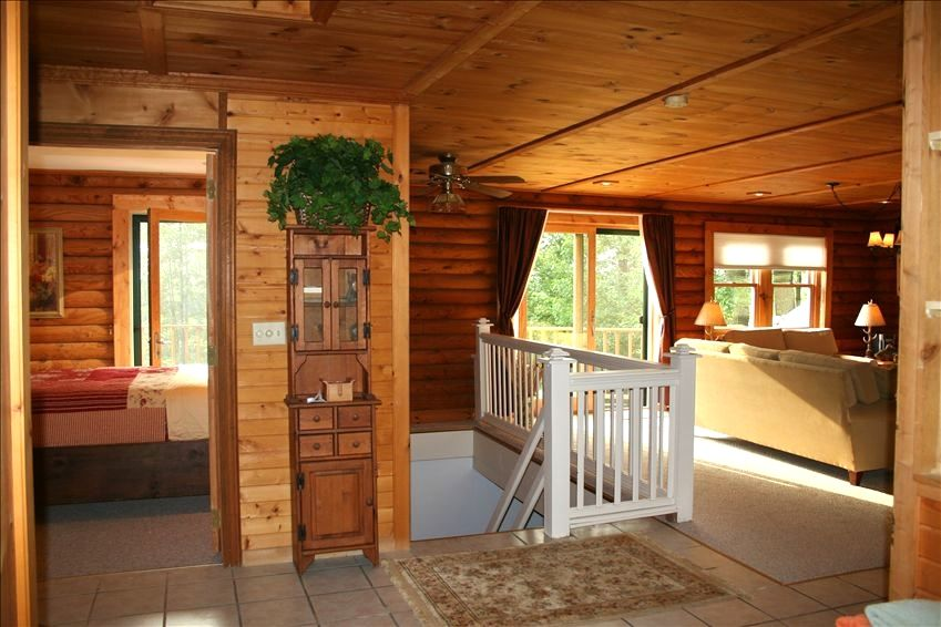 Log Home Rental Overlooking Lime Lake Near Vrbo